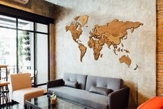 Wood Map Wall Wooden World Map Timber World Map World Map Wall Decor Map of the World Wall Decor Wall Art Map 3D Wood World Map Wooden World Map will make your decoration awesome. Also it will be wonderful gift for your family or friends on christmas, birthday, housewarming. , Your vision and dreams will be expanded with our world maps. Our Wooden World maps will be creative and elegant gifts for your friends. - It is %100 wooden (Birch plywood) and detailed world map. - Handmade - Guide for ass Cork World Map, World Map Wall Decor, Wall Maps, Wall Art Decor, World Map Mural, Detailed World Map, Wooden Map, Globe Decor, Travel Wall