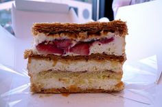 Trying this week...Strawberry Mille Feuille at Lady M Confections in NYC