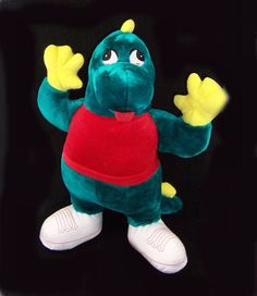 BJ Toy Co Green Plush Stuffed Animal ALLIGATOR Toy 22 Inch Red Shirt Shoes Nice!