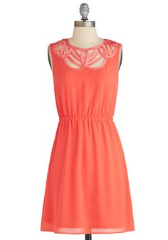 ModCloth Papaya Skies Dress   More here: http://mylusciouslife.com/prettiness-luscious-pastel-colours/