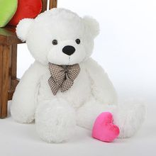 He may not be a bunny... but he's still perfect for delivering an Easter Basket! Adorable Coco Cuddles Cute and Cuddly Big White Teddy Bear 2 1/2 feet tall