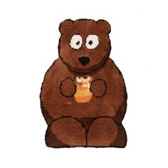 How cute is this Nursery Bertie Bear Brown Rug? Brown Rug, Room Inspiration, Teddy Bear, Nursery, Rugs, Animals, Farmhouse Rugs, Brown Carpet, Animales