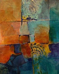 Color Study 4 by Carol Nelson Acrylic ~ 10 x 8