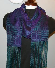 Handwoven Purple and Teal Tencel Scarf by ThrumsTextiles on Etsy, $125.00    love the colors