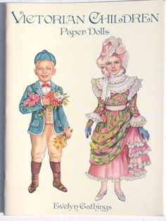 Vtg-NEW-1996-Victorian-Children-Paper-Dolls-Evelyn-Gathings-Dover-Book