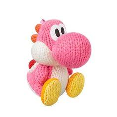 Pink Yarn Yoshi Amiibo World Nintendo Gaming Merchandise Wooly Soft Figure NEW #Pink