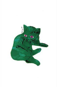Andy Warhol, Green Cat, c.1956