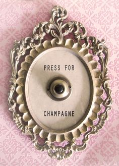 "Would love to see Lisa Golightly's ""Press for Champagne"" in a girly gold frame for a touch of whimsy in a modern home."