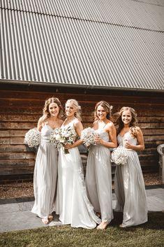 Pale Grey Bridesmaids Dresses From Oasis   Benjamin Wheeler