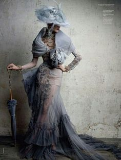 .Just love Victorian couture.