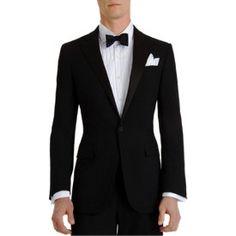 "Ralph Lauren Black Label Silk Peaked Lapel ""Anthony"" Tuxedo"