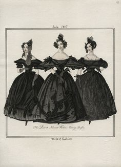 1837 fashion plate from World of Fashion via Los Angeles Public Library | Visual Collections