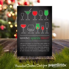 make your own christmas invitations