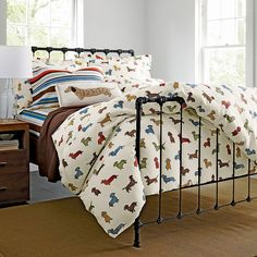 Dachshund flannel sheets