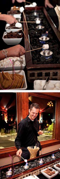 smores bar at your wedding reception