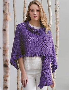 Ruffle Edge Wrap By Patons - Free Crochet Pattern - (ravelry)