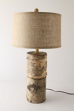 $ 298.....ARE YOU FRICKING KIDDING ME?!?! I like this, but 298 dollars! I could go outside to the log pile, grab a 2 logs and BOOM make my own more only the cost of buying a lamp shade and wire.
