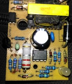 In this post we try to diagnose a burnt SMPS circuit and try to troubleshoot and repair the circuit. The shown unit is a cheap readymade Chinese make SMPS circuit. Sony Led Tv, Battery Charger Circuit, Switched Mode Power Supply, Power Supply Circuit, Electronic Circuit Projects, Electronic Schematics, Energy Saver, Electronics Components, Voltage Regulator