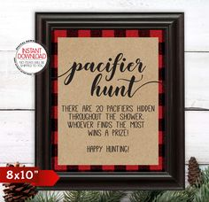 Pacifier Hunt Game Find the Pacifier Baby Shower Game Lumberjack Baby . - Pacifier Hunt Game Find the Pacifier Baby Shower Game Lumberjack Baby Shower Sign Baby Shower # des - Otoño Baby Shower, Baby Shower For Men, Man Shower, Baby Shower Winter, Baby Shower Signs, Baby Shower Games, Couples Baby Showers, Baby Winter, Bridal Shower