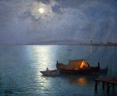 Guillermo Gomez Gil (Spanish, 1862-1942) - Nightfall