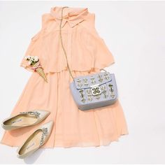 Our new peach dress is so sweet, we think it may be made out of sugar. #stylecheckin #fashionista #ootd