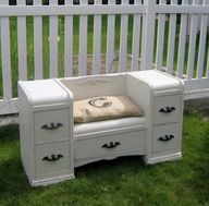My mamaw used to have a vanity similar, would love to have it to be able to make this bench.