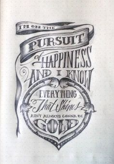 Lettering Lyrics, Kid Cudi - Pursuit of Happiness designed by Jaclyn Le. Connect with them on Dribbble; the global community for designers and creative professionals. Typography Love, Vintage Typography, Typography Inspiration, Typography Letters, Typography Poster, Tattoo Inspiration, Hand Drawn Type, Hand Drawn Lettering, Cool Lettering