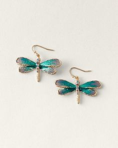 Dragonfly earrings inspired by dragonflies of course!