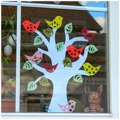 Induge in the beauty of Spring season with Easter Window decorations. Do window decorations for your home. Check out DIY Easter Window decorations here. Easter Crafts To Make, Bunny Crafts, Diy Osterschmuck, Flower Window, Diy Easter Decorations, Diy Ostern, Easter Activities, Spring Crafts, Christmas Art