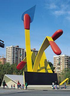 Mistos (Matches) by  Claes Oldenburg, Barcelona. 1992.