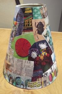 Add decoupage to an old lamp and make it look 1,000,000 times better :)