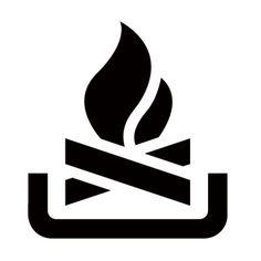 Fire Campfire Stencil