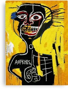 d4f00ad2 Jean Michel Basquiat - Cabeza -1982 Canvas Print Street Art, Basquiat  Tattoo, Basquiat. '