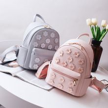 Women Flower Mini Bag Printing Backpack Female Korean School Bags for  Teenagers Girls Small Backpack Mochila aefc1413de38a