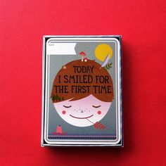 "@Simone Akkermans blogs's instagram:  ""Milestone Baby Cards. I love this little box of cards. @Masafumi Watanabe Baby"""