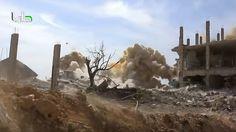 <p>16/02/2016/YouTube / Rusvesna.su 1945 La ofensiva ha tenido lugar en las fortificaciones de los grupos armados que operan en la provincia de Damasco. Un grupo terrorista sirio ha difundido imágenes del ataque realizado por un helicóptero de ataque ruso Mi-24,…</p>
