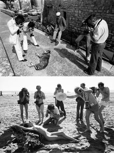 First   The iconic photo of the 11th Rencontres d'Arles   By Yan Morvan   Second   Nude workshop   Lucien Clergue on Beauduc beach, Salins de Giraud   By Guy Le Querrec