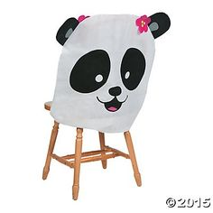 Panda Party Chair Covers 4 Pk Party Supplies Canada - Open A Party