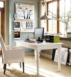 Traditional Home Office With Ballard Designs Gramercy Upholstered Chair,  Carpet, High Ceiling, Chandelier, Hardwood Floors | Office | Pinterest ...