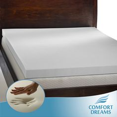 @Overstock - Minimize tossing and turning and get a good night's rest with this durable memory foam mattress topper. This four-pound topper features temperature-sensitive, breathable foam that cradles your body as you sleep, ensuring your comfort.http://www.overstock.com/Bedding-Bath/Comfort-Dreams-Mem-Cool-4-inch-Queen-King-size-Memory-Foam-Mattress-Topper/3169354/product.html?CID=214117 $239.99