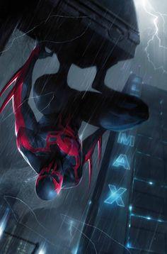 "artverso: ""Francesco Mattina - Spider-Man 2099 """