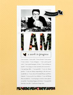 I AM a Work In Progress #layout by Cathy Zielske #scrapbook #SCTMagazine