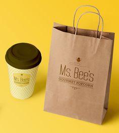 Ms. Bee's Gourmet Popcorn by Alex Chernault, via Behance