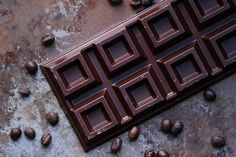 Food photography chocolate and coffee