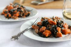 Whole Wheat Sweet Potato Gnocchi with Chicken Sausage and Kale -- Makes around 80 gnocchi, should boil first before pan frying
