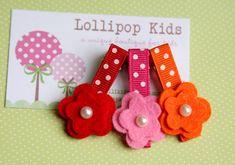 CHOOSE YOUR COLOR Toddler Hair Clip Girls por Lollipopkidsboutique, $6.50