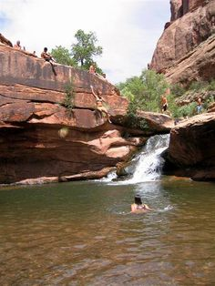 Mill Creek North Fork Canyon swimming hole [Moab]