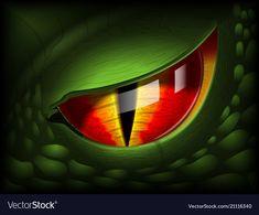 Dragon eye realistic image vector image on VectorStock Alligator Tattoo, Dragon Eye, Green Dragon, Eye Illustration, Dragon Artwork, T Rex, Graphic Art, Vector Free, Eyes