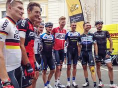 Tour de France stage 18 in photos - The German riders in this year's Tour line up for a pre-stage photo.