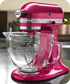 Hot Pink Kitchenaid With Gl Bowl Mixer Colorskitchenaid Stand